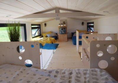 plan interieur double mezzanine tiny house